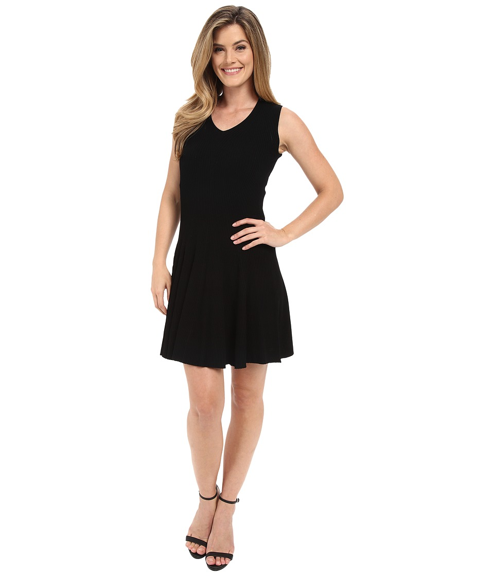 Calvin Klein - Sweater Dress with Flare (Black) Women's Dress