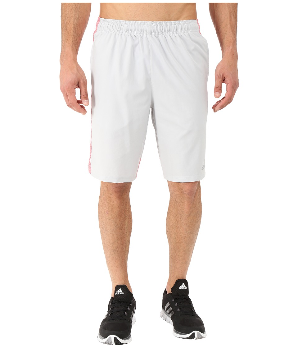 adidas - Climacore Shorts (Light Grey/Red) Men's Shorts