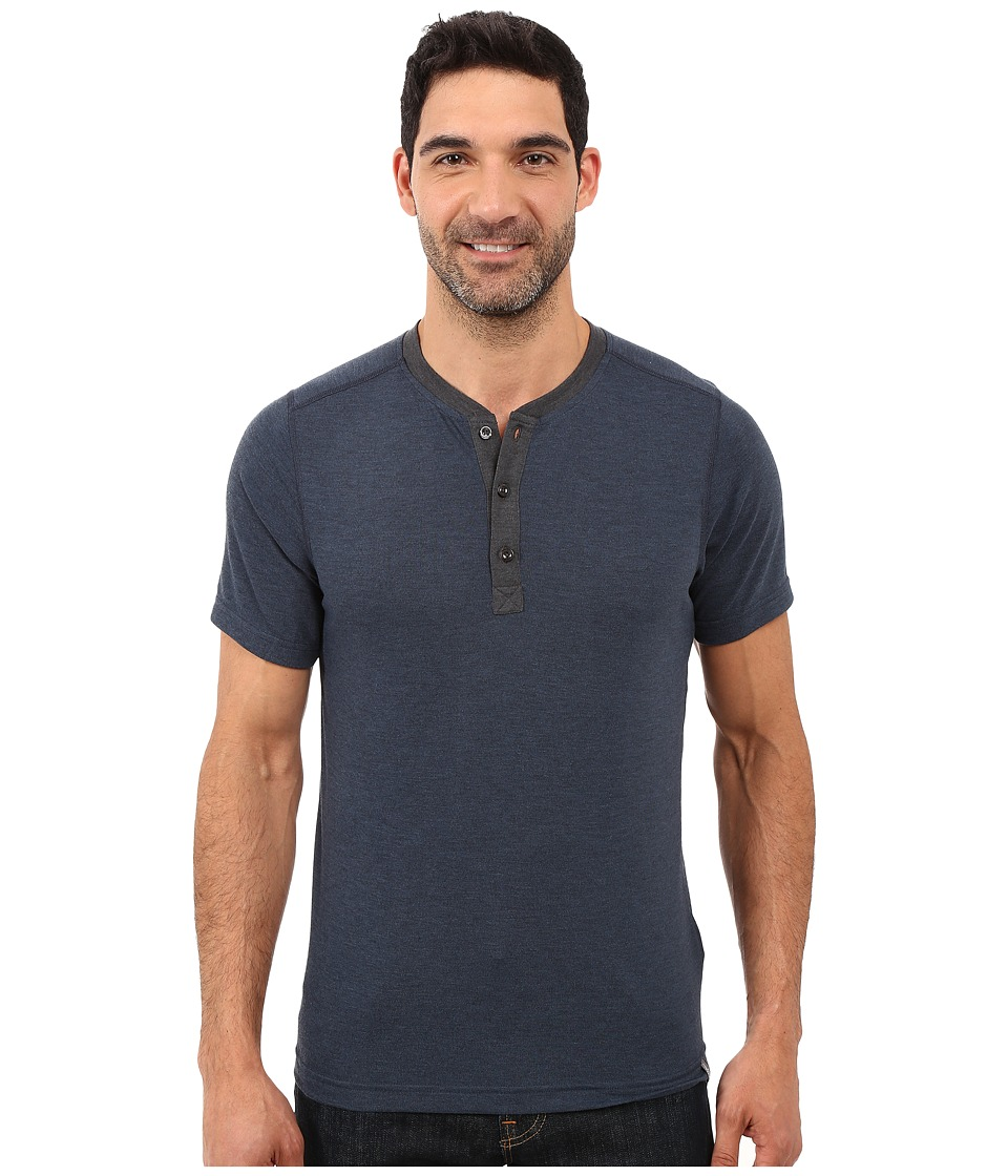 The North Face Short Sleeve Crag Henley (Urban Navy Heather) Men