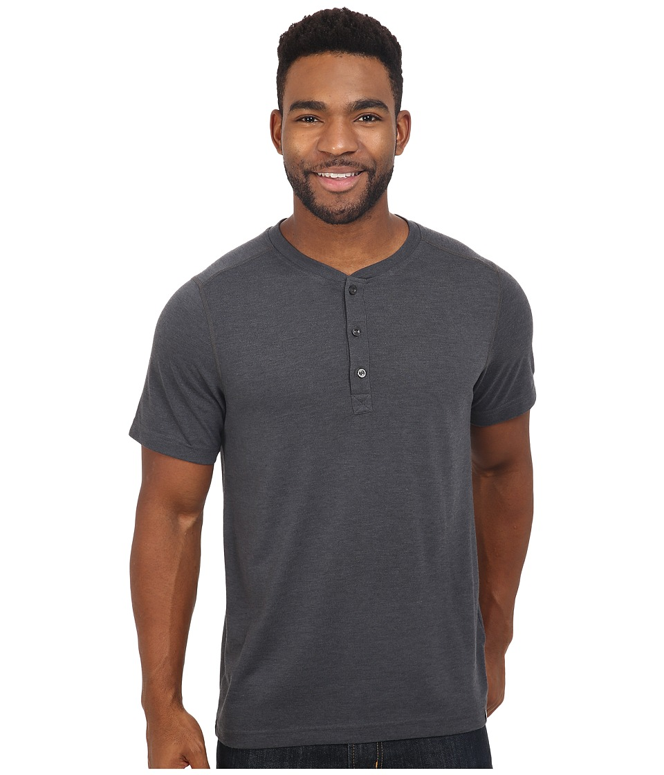 The North Face Short Sleeve Crag Henley (TNF Dark Grey Heather) Men