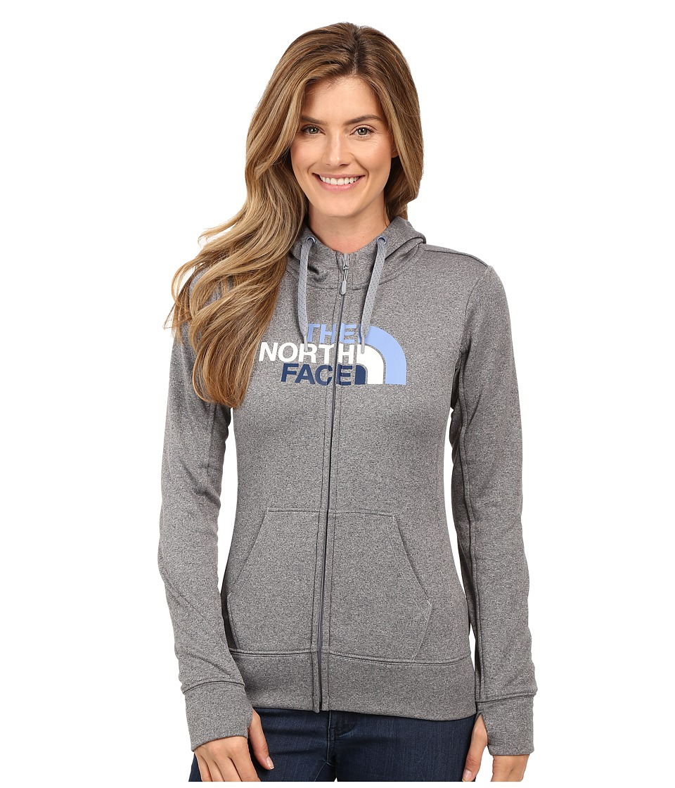 The North Face - Fave Half Dome Full-Zip Hoodie (TNF Medium Grey Heather/Coastal Fjord Blue Multi) Women's Sweatshirt
