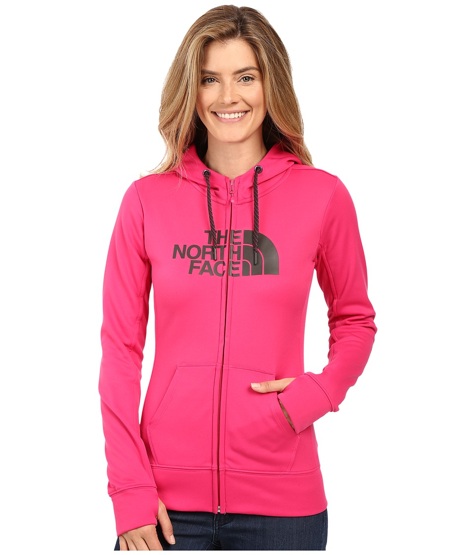 The North Face - Fave Half Dome Full-Zip Hoodie (Cabaret Pink/Asphalt Grey) Women's Sweatshirt