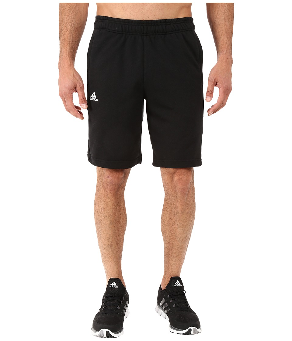 adidas - Essential Linear Shorts (Black/White) Men's Shorts