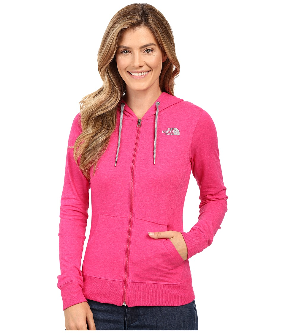 The North Face - Lite Weight Full Zip Hoodie (Cabaret Pink Heather/TNF Medium Grey Heather) Women's Sweatshirt