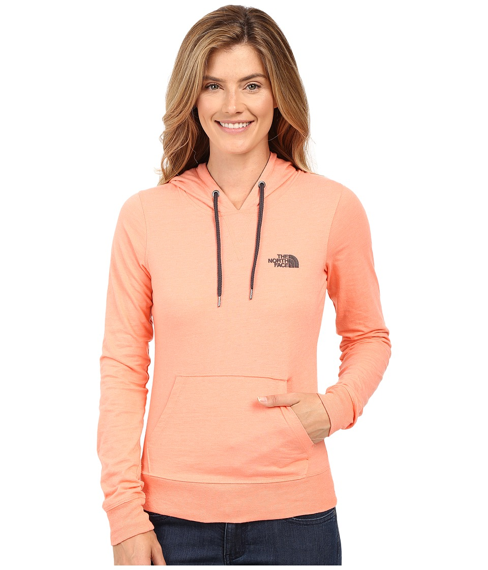 The North Face - Lite Weight Pullover Hoodie (Feather Orange Heather/TNF Dark Grey Heather) Women's Sweatshirt