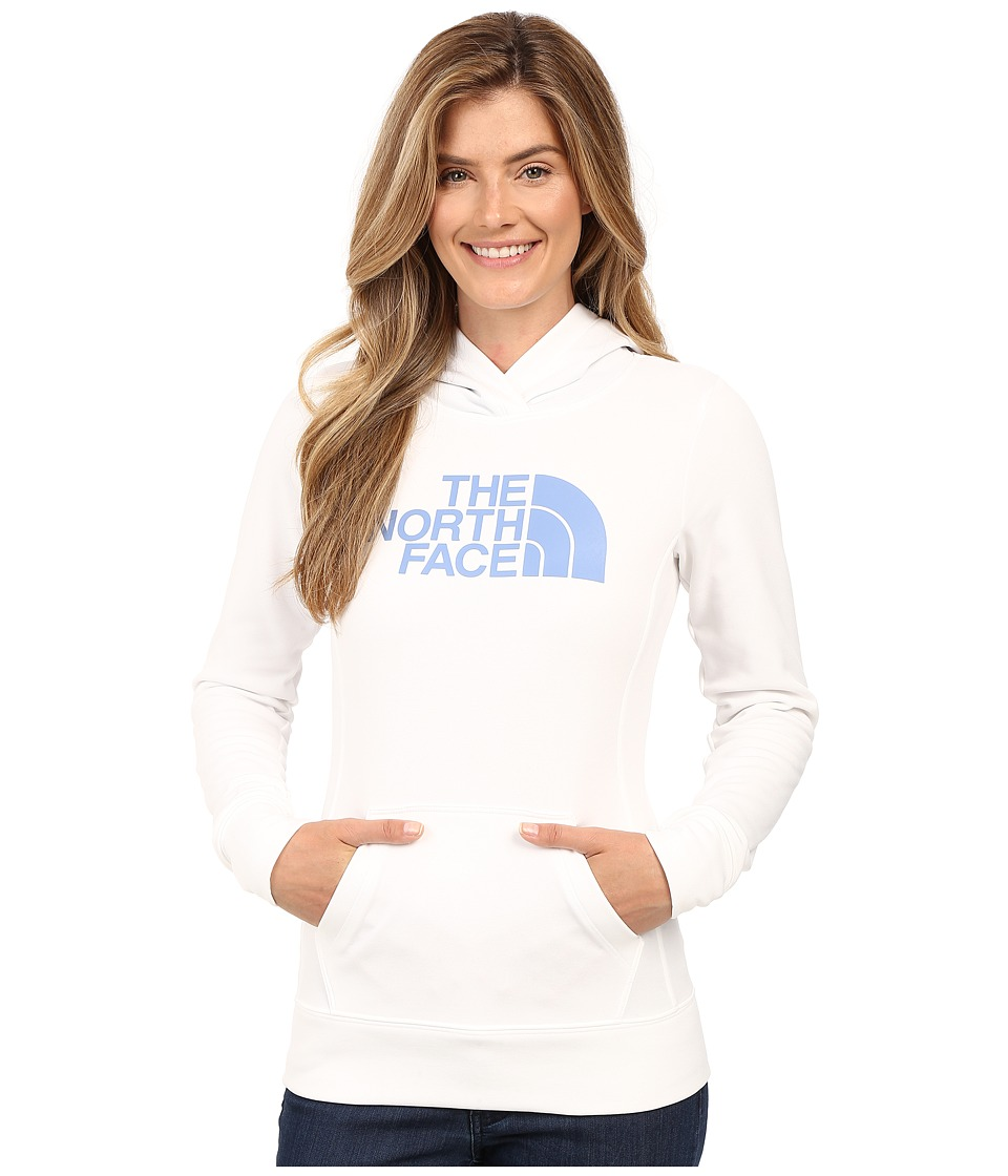 The North Face - Fave Pullover Hoodie (TNF White/Coastal Fjord Blue) Women's Sweatshirt