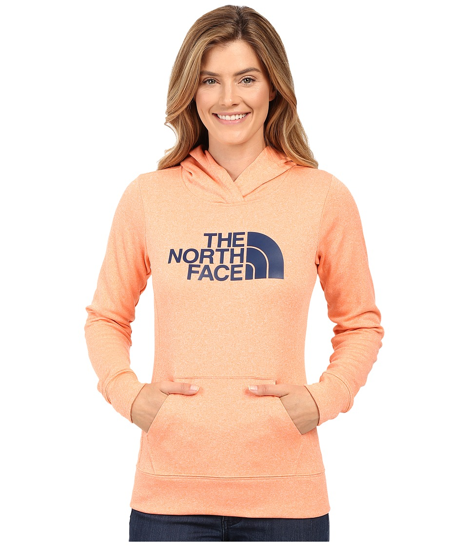 The North Face - Fave Pullover Hoodie (Feather Orange Heather/Cosmic Blue) Women's Sweatshirt