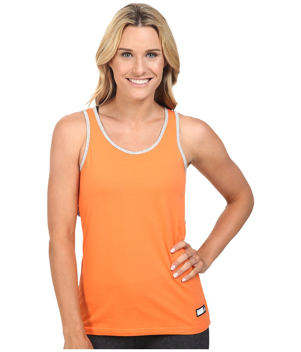 adidas - Stella Jersey Tank Top (Semi Solar Orange) Women's Sleeveless