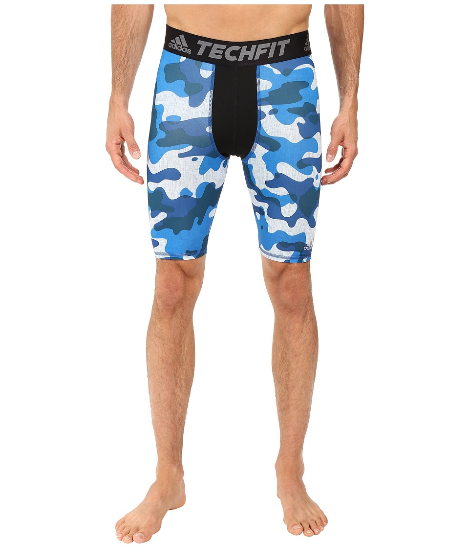 adidas - Techfit Compression Shorts (Halo Blue/Shock Blue) Men's Shorts