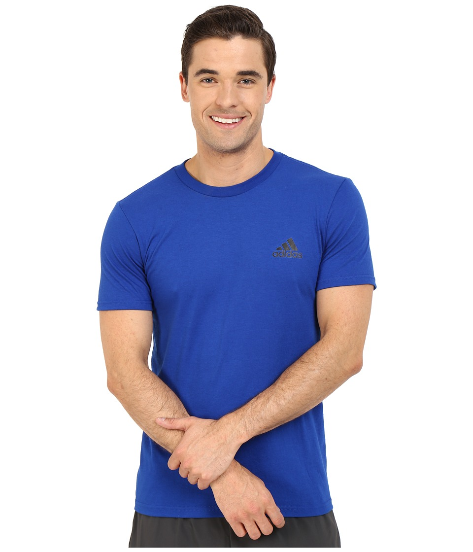adidas - Go-To Performance Short Sleeve Crew Tee (Collegiate Royal Blue) Men