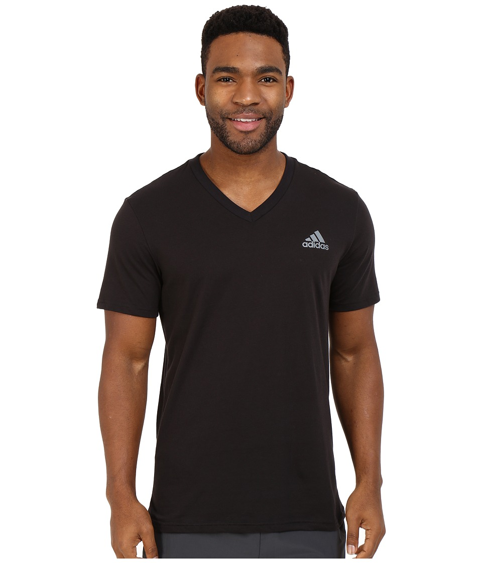 adidas - Go-To V-Neck Short Sleeve (Black) Men's T Shirt