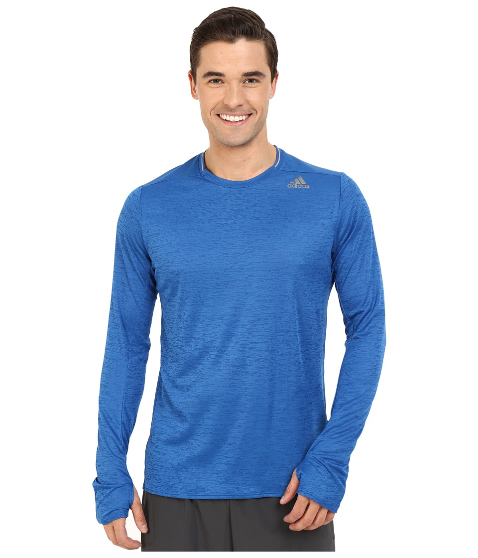 adidas - Supernova Long Sleeve Tee (Equipment Blue) Men's Workout