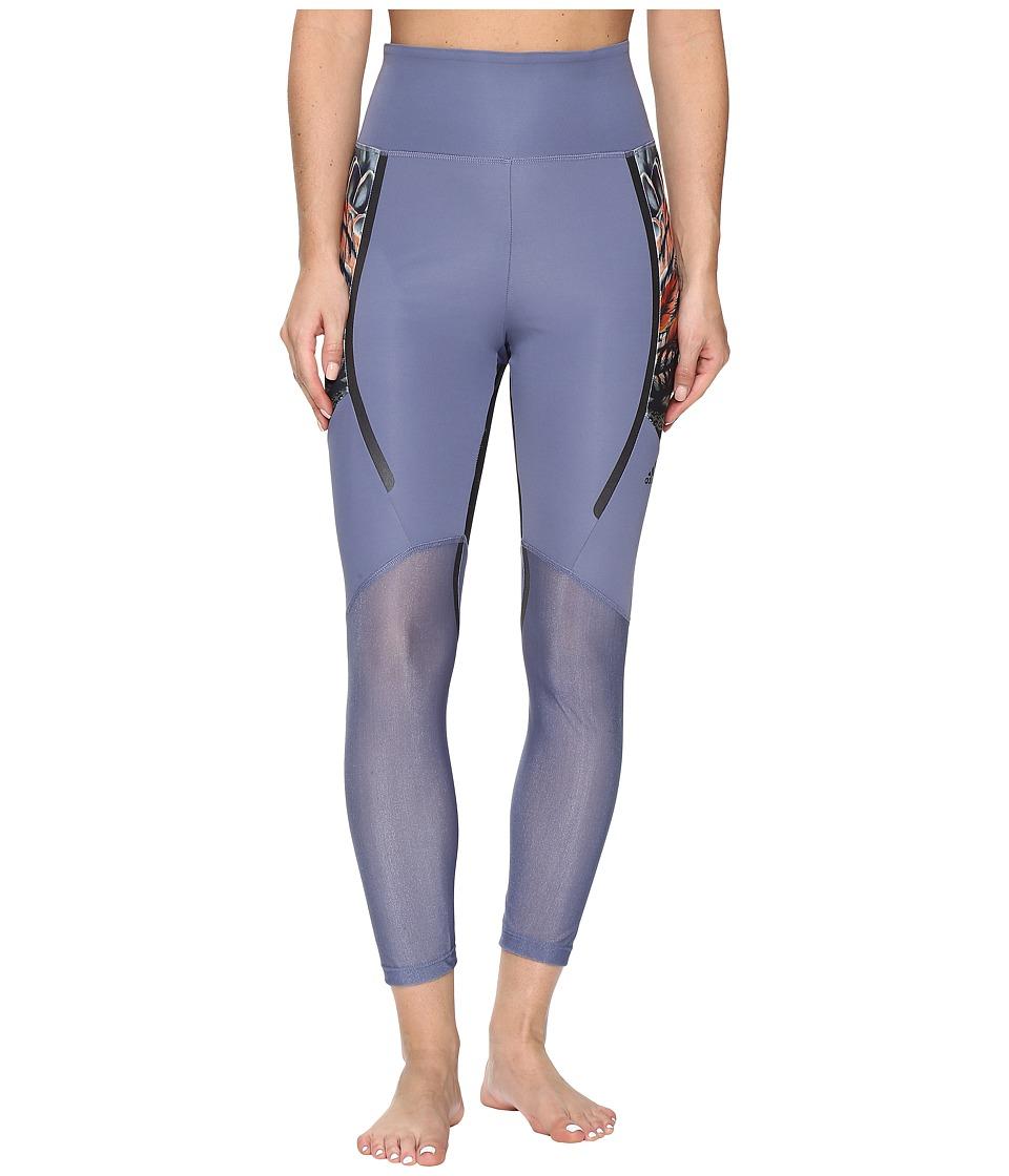 adidas - Standard 19 7/8 Tights (Purple) Women's Casual Pants