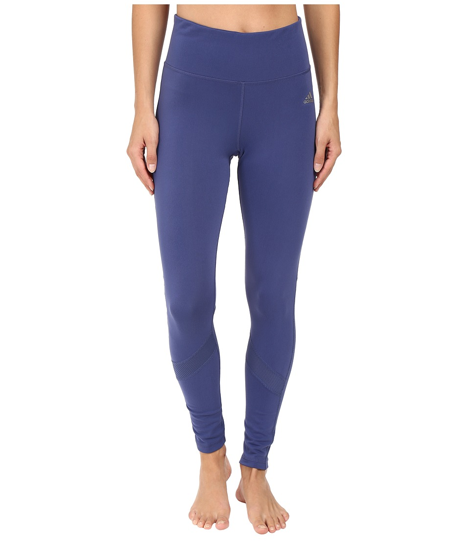 adidas - Clima Studio High Rise Tights (Raw Purple) Women's Casual Pants