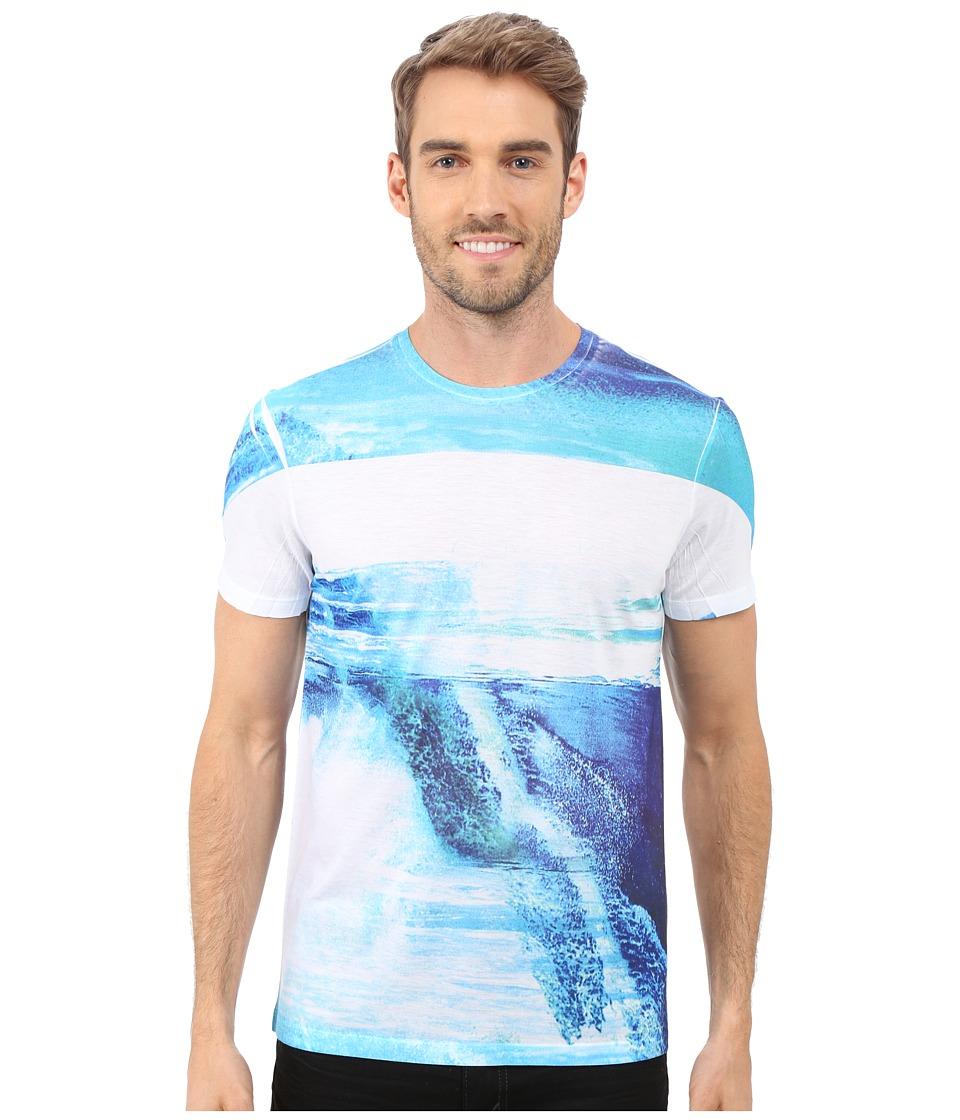 Calvin Klein - Short Sleeve All Over Sublimated Tee (White) Men's T Shirt