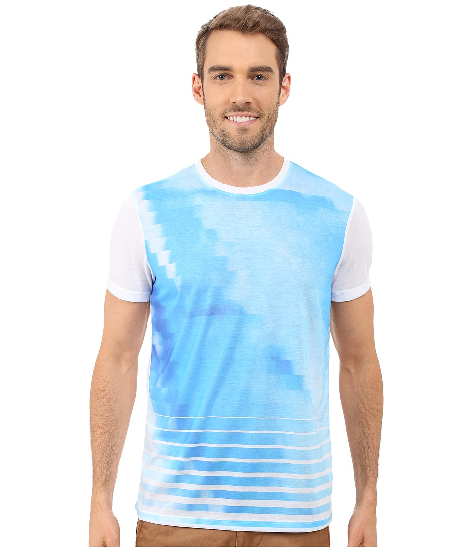 Calvin Klein - Short Sleeve Graident Sublimated Tee (White) Men's T Shirt