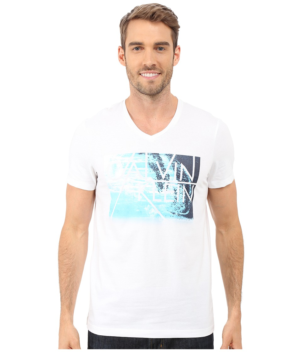 Calvin Klein - Short Sleeve Water Front Photo Tee (White) Men's T Shirt