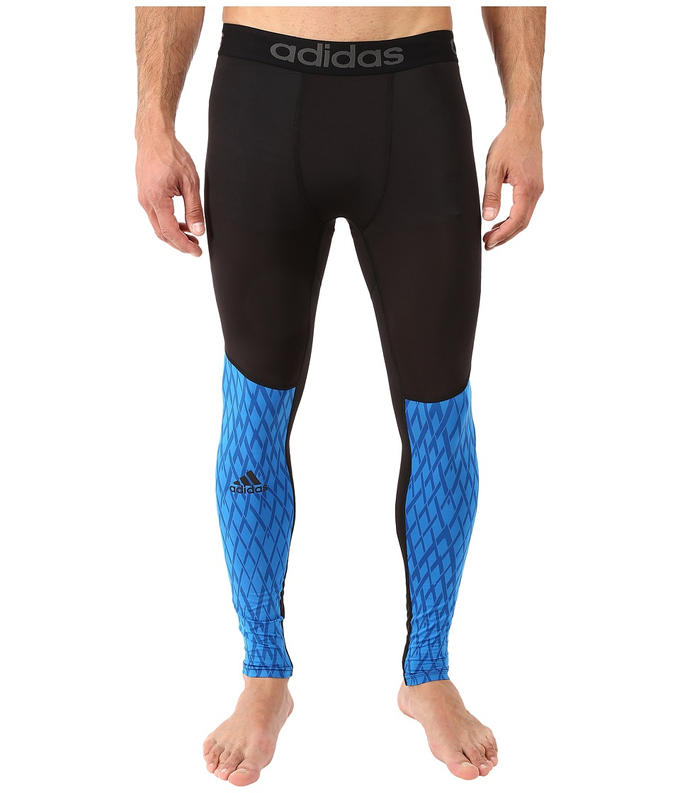 adidas - Team Issue Ice Tights (Black/Shock Blue) Men's Casual Pants