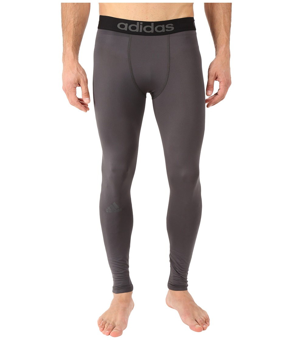 adidas - Team Issue Solid Compression Tights (Dark Grey) Men's Workout