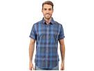 Calvin Klein Short Sleeve Seersucker Voile Plaid Shirt