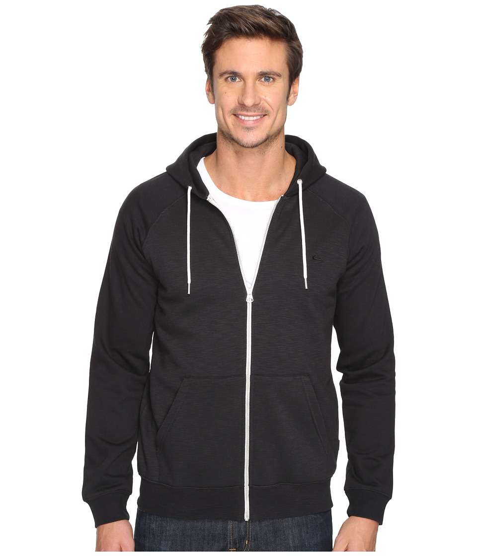 Quiksilver - Everyday Zippered Hooded Fleece (Black) Men's Clothing