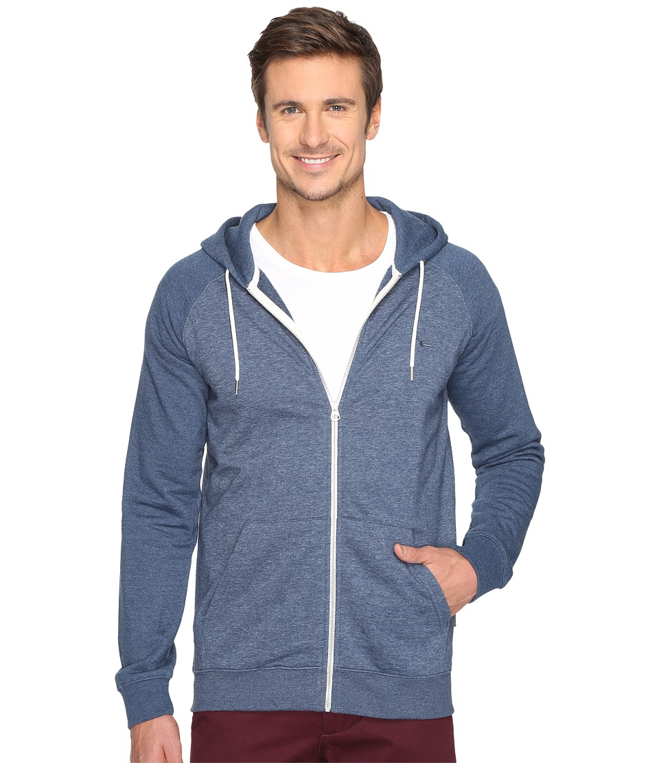 Quiksilver - Everyday Zippered Hooded Fleece (Dark Denim) Men's Clothing