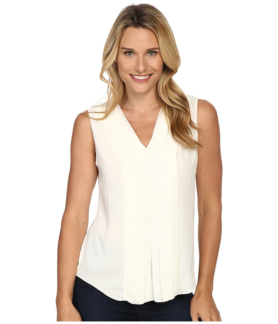 NYDJ - Solid Shell Top (Vanilla) Women's Clothing