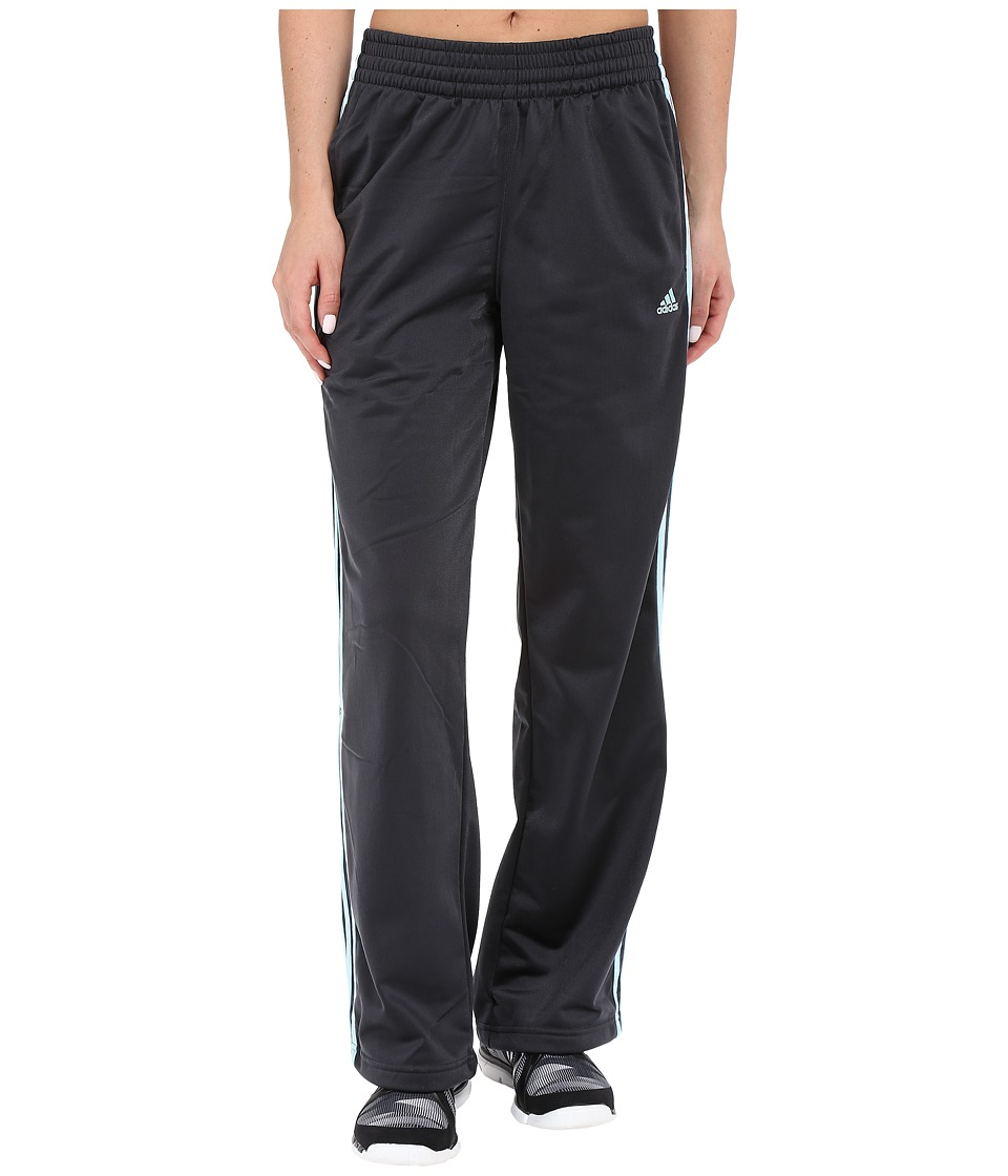 adidas - 3-Stripes Pant (Dark Grey/Frozen Blue) Women's Workout