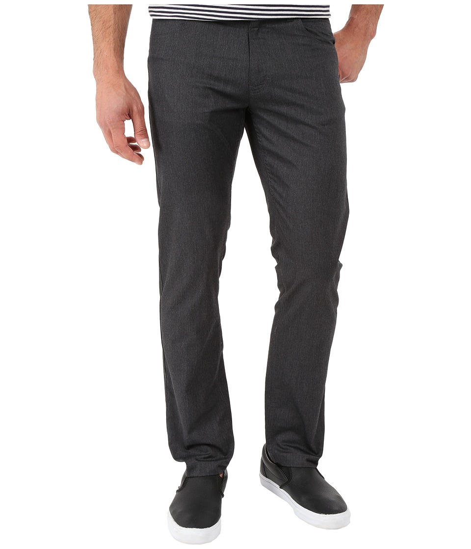 Calvin Klein - Four-Pocket Cotton Heather Twill Pants (Black) Men's Casual Pants
