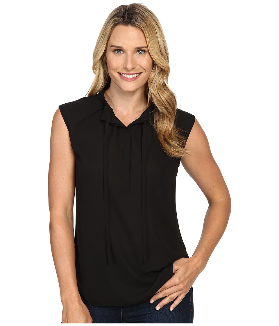 NYDJ - Woven Top (Black) Women's Clothing