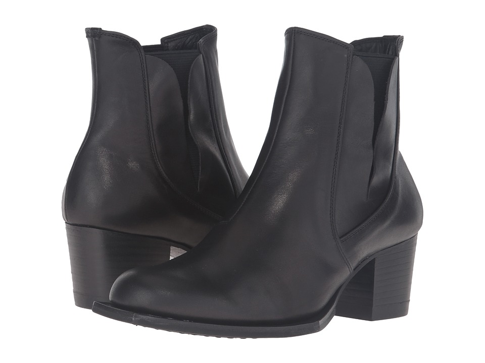 Y's by Yohji Yamamoto - Side Gore Heel Boots (Black) Women's Boots