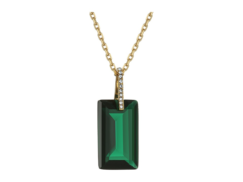 Kate Spade New York - Hidden Gems Emerald Cut Pendant Necklace (Emerald) Necklace