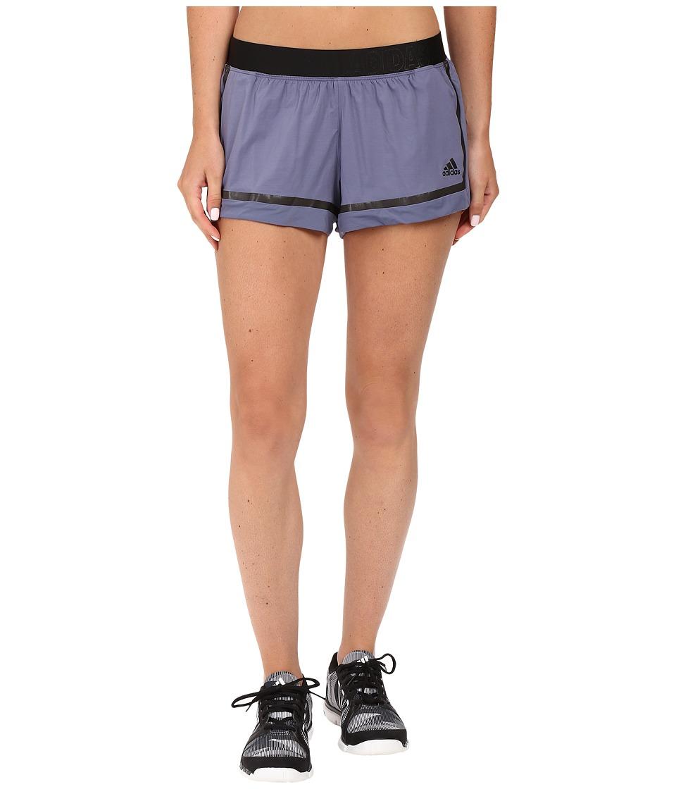 adidas - Standard 19 Woven Shorts (Purple) Women's Shorts