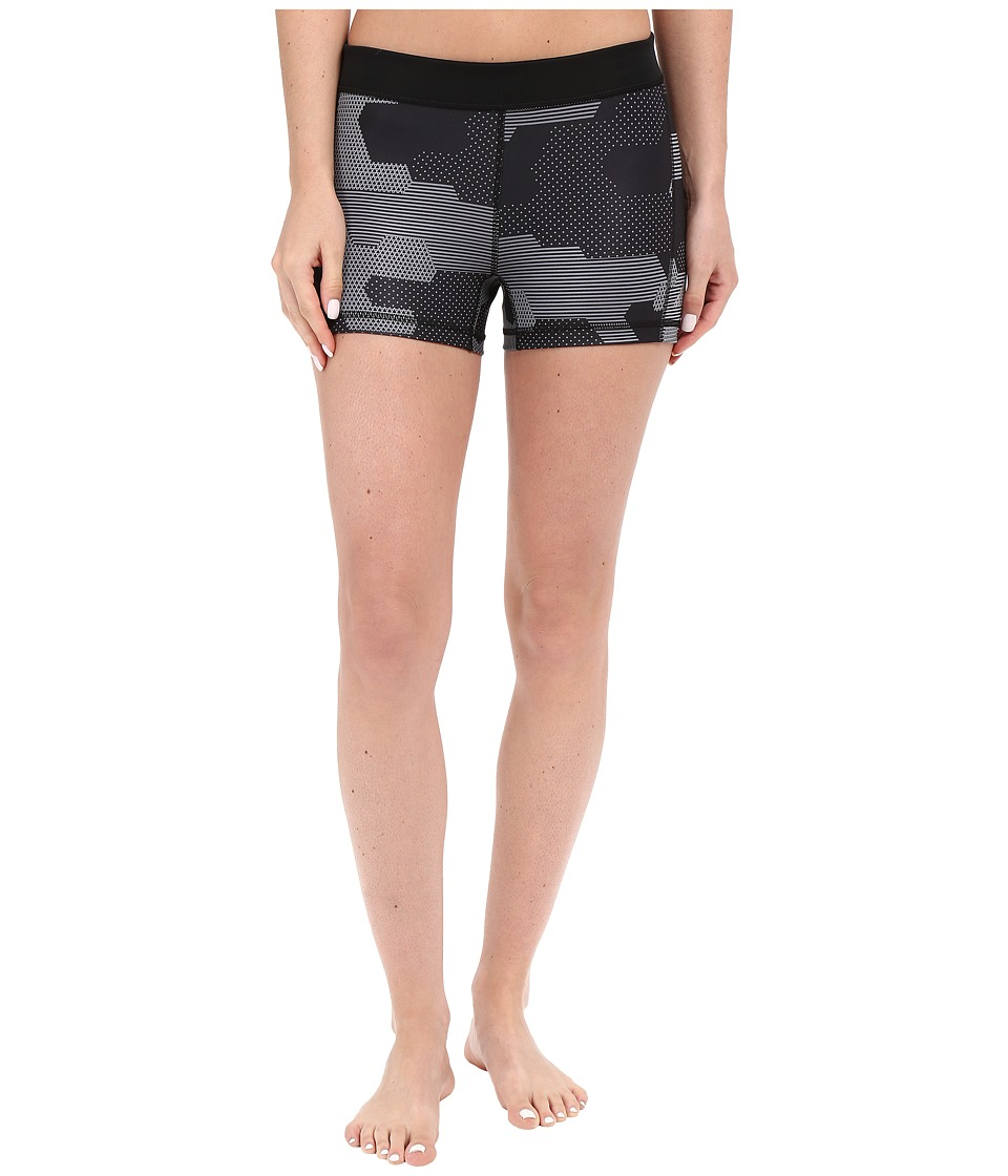 adidas - Techfit 3 Shorts Black White Print (Black Print) Women's Shorts