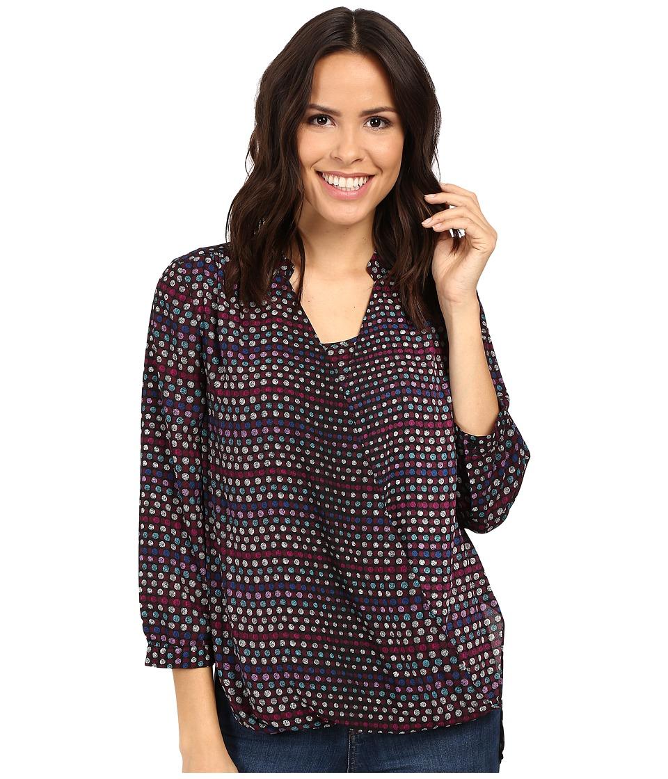 NYDJ - Drape Front Blouse w/ Cami (Fox Dots Renaissance Pink) Women's Blouse
