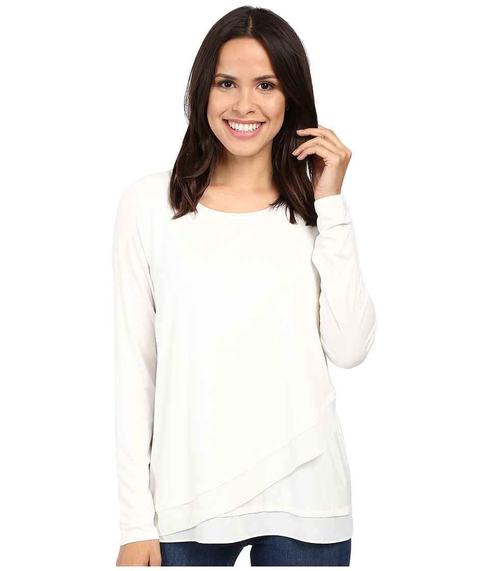NYDJ - Layered Front Knit Top (Vanilla) Women's Clothing