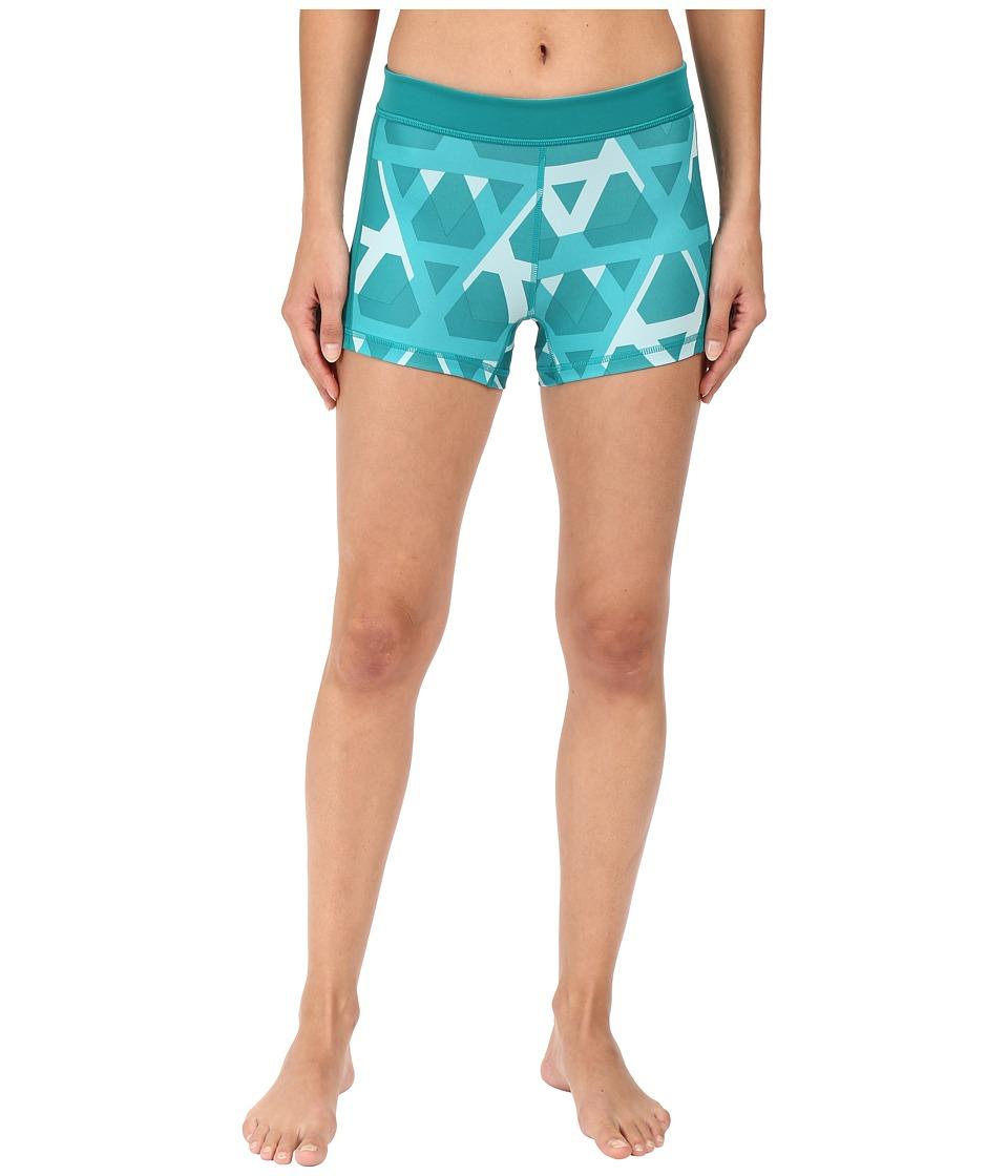 adidas - Techfit 3 Short Tights (Equipment Green Print) Women's Casual Pants