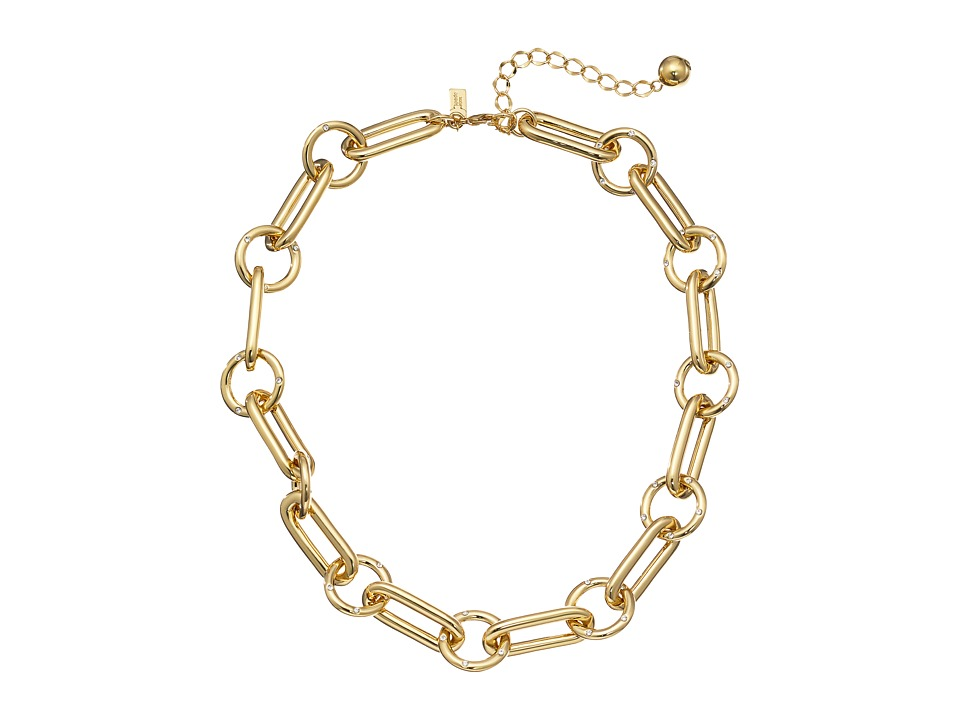 Kate Spade New York - Goldie Links Short Necklace (Clear/Gold) Necklace