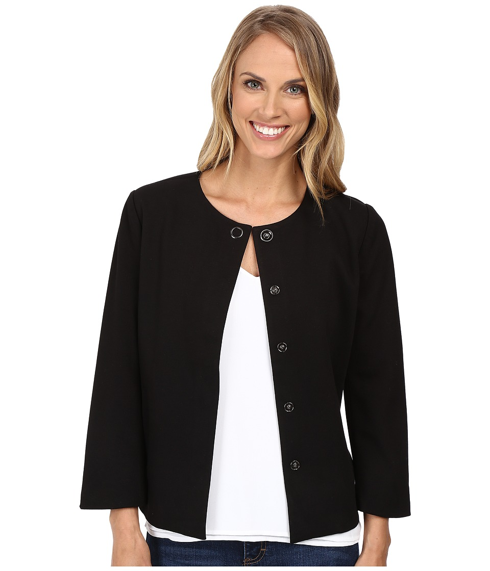 NYDJ - Snap Front Jacket (Black) Women's Coat