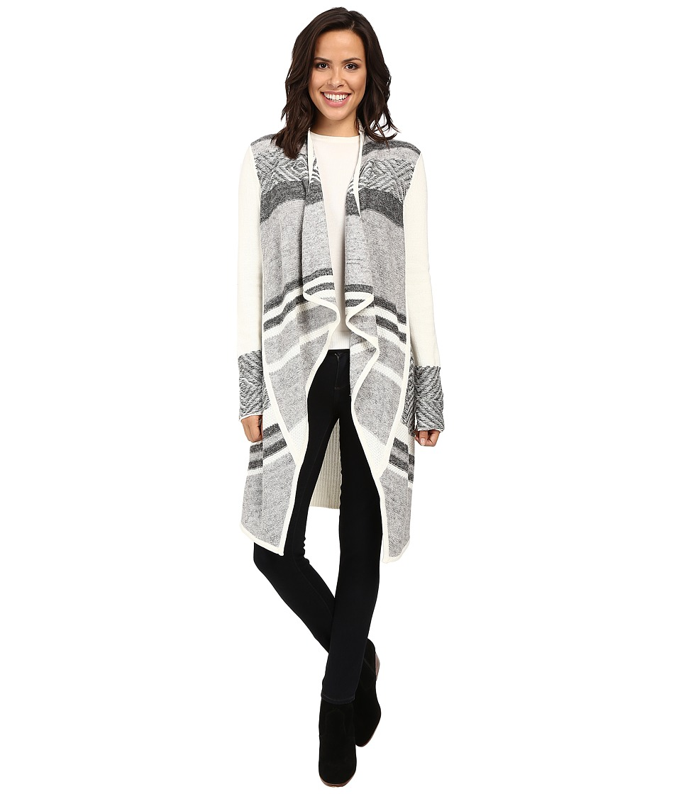 NYDJ - Hybrid Fair Isle Car Coat (Vanilla) Women's Coat