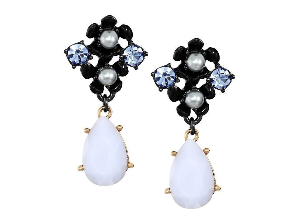 Kate Spade New York - Precious Petals Drop Earrings (Blue Multi) Earring