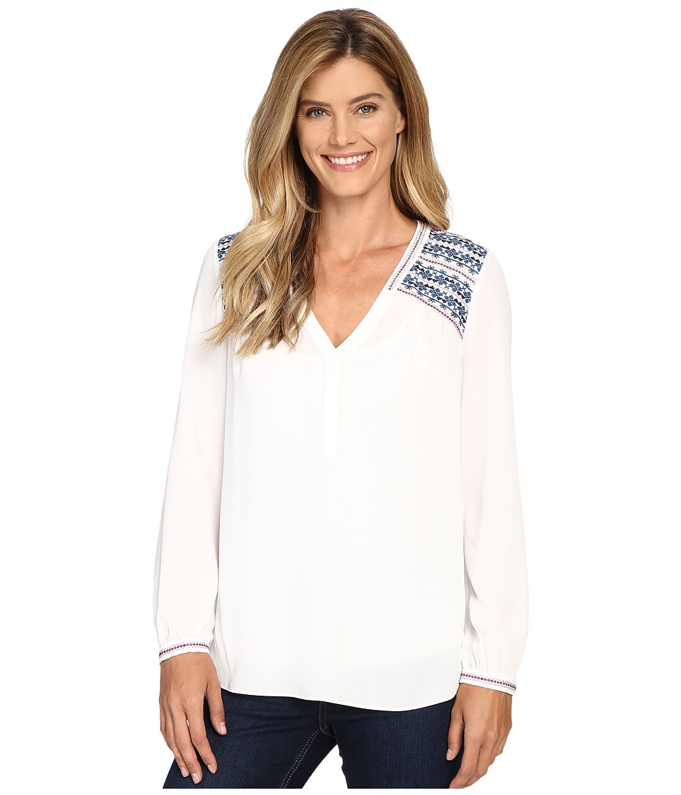 NYDJ - Embroidered Top (Sugar) Women's Clothing
