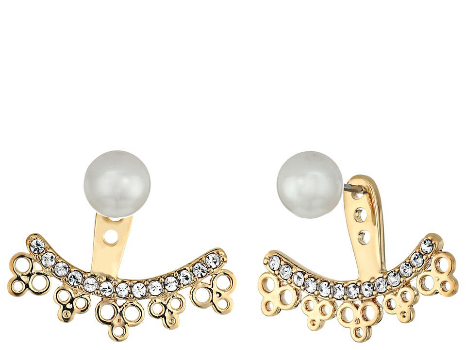 Kate Spade New York - Chantilly Charm Ear Jackets Earrings (Cream Multi) Earring