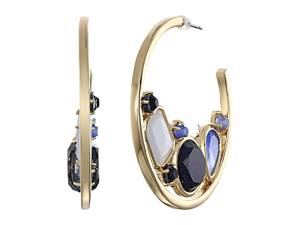 Kate Spade New York - Symphony Sparkle Hoops Earrings (Blue Multi) Earring