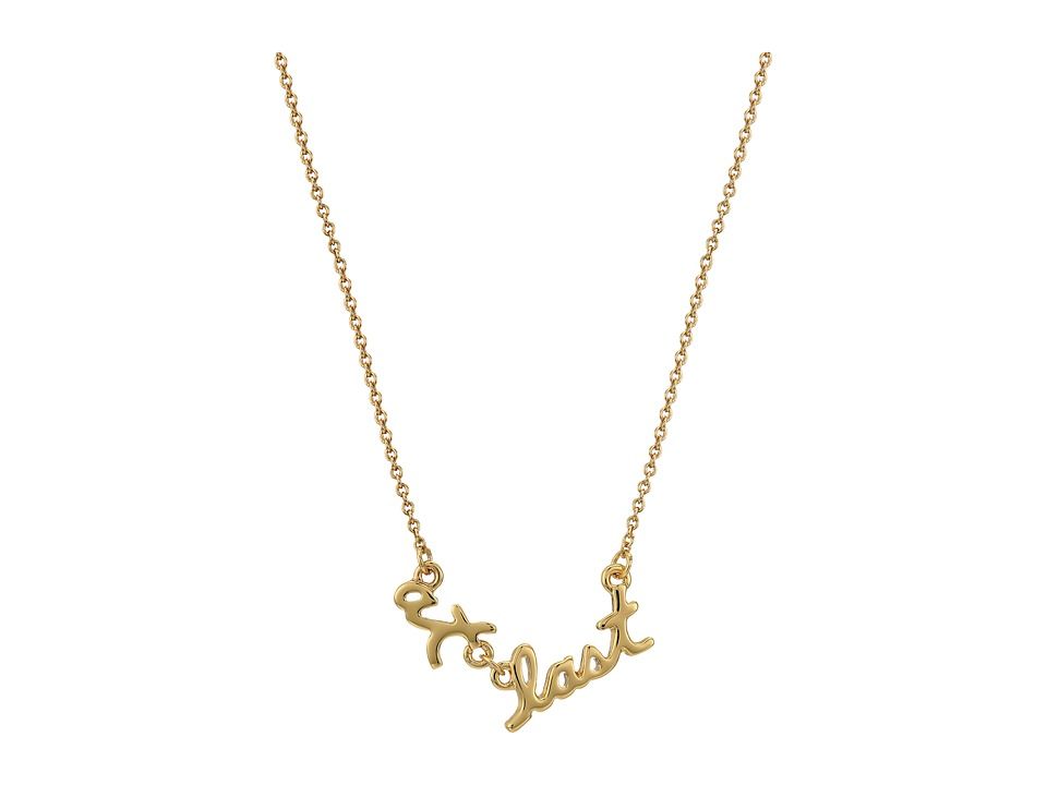 Kate Spade New York - Say Yes At Last Pendant Necklace (Gold) Necklace