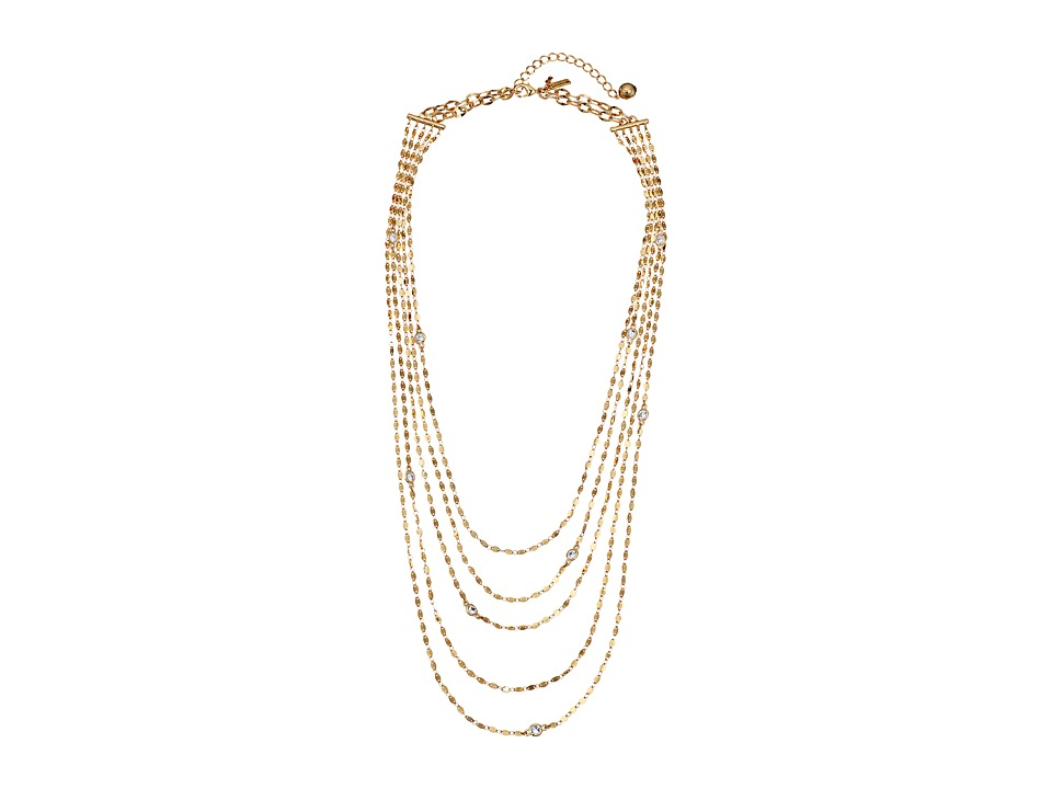 Kate Spade New York - Quartz Cascade Multi Strand Necklace (Clear/Gold) Necklace