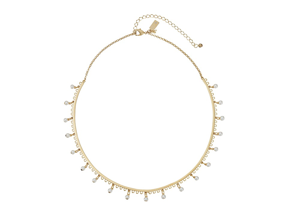 Kate Spade New York - Chantilly Charm Collar Necklace (Cream Multi) Necklace
