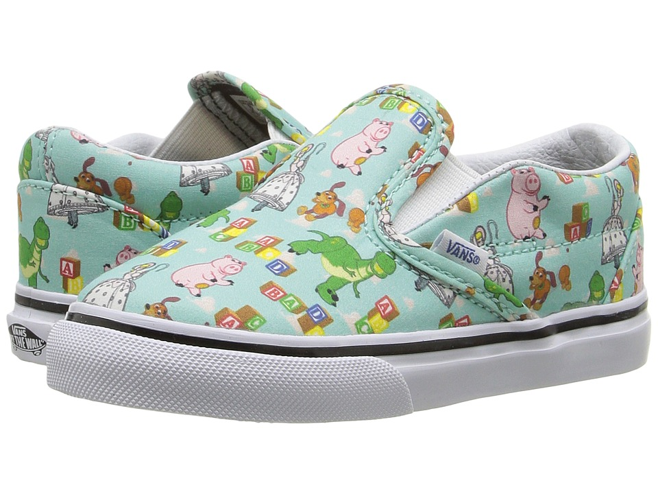 Vans Kids - Classic Slip-On Toy Story (Toddler) ((Toy Story) Andy's Toys/Blue Tint) Kids Shoes