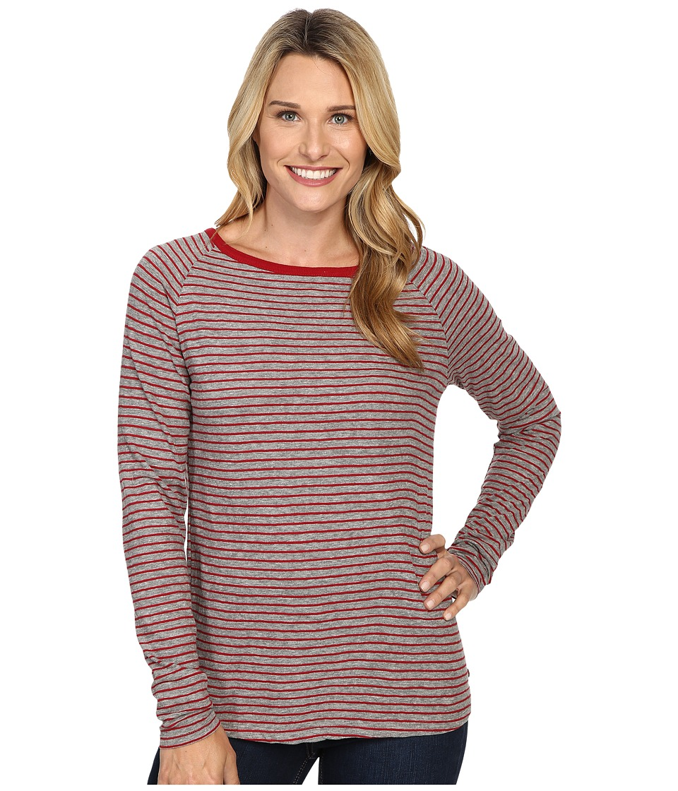 Jag Jeans - Brier Stripe Tee Classic Fit Shirt Striped Jersey (Medium Heather/Rubaiyat) Women's T Shirt