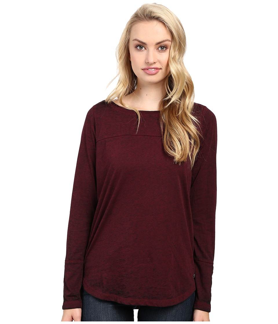 Jag Jeans Meghan Tee Classic Fit Shirt Burnout Jersey (Berry) Women